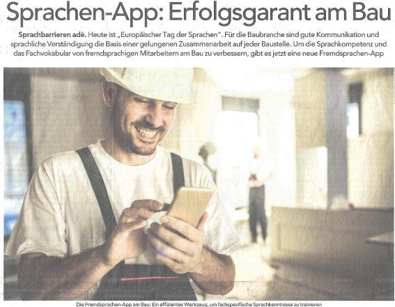 Sprachen-App am Bau