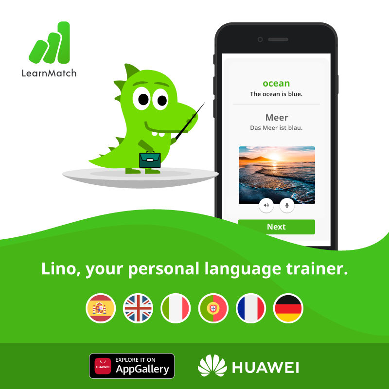 LearnMatch promotion in AppGallery